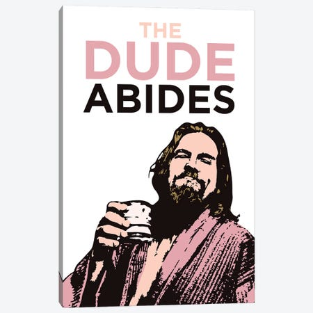 The Dude Abides Canvas Print #SLV93} by Simon Lavery Canvas Wall Art