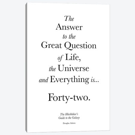 The Hitchhiker's Guide To The Galaxy Canvas Print #SLV96} by Simon Lavery Canvas Art Print