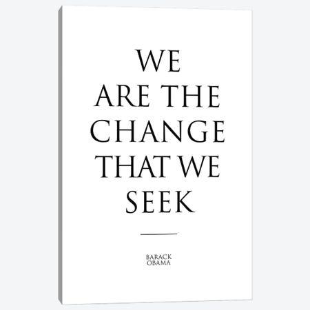 Barack Obama's Quote Canvas Print #SLV9} by Simon Lavery Canvas Print