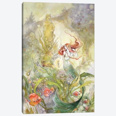 Little Mermaid Canvas Print #SLW100} by Stephanie Law Canvas Artwork