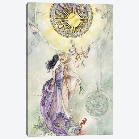 Lovers Canvas Print #SLW102} by Stephanie Law Canvas Artwork