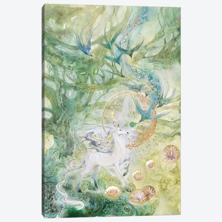 Meeting Of Tangled Paths 3-Piece Canvas #SLW105} by Stephanie Law Canvas Art Print
