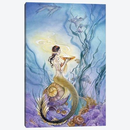 Mermaid 3-Piece Canvas #SLW107} by Stephanie Law Canvas Art Print