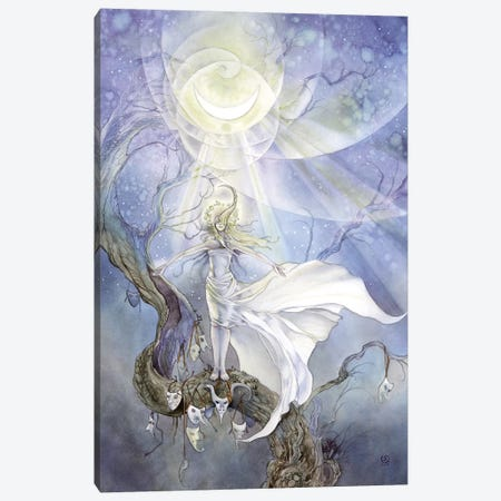 Moonbathing Canvas Print #SLW108} by Stephanie Law Canvas Artwork
