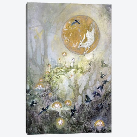 Moongazing Canvas Print #SLW109} by Stephanie Law Canvas Wall Art