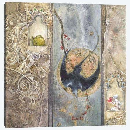 Omen Canvas Print #SLW118} by Stephanie Law Art Print