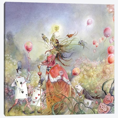 Queen Of Hearts Canvas Print #SLW123} by Stephanie Law Canvas Artwork