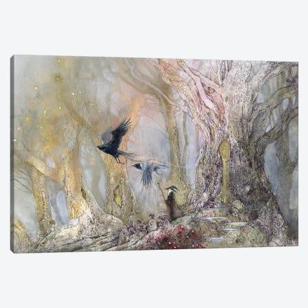 Raven God Canvas Print #SLW127} by Stephanie Law Canvas Art Print