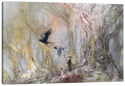 Raven God Canvas Art Print