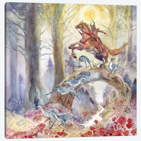 Red Knight Canvas Print #SLW128} by Stephanie Law Canvas Artwork