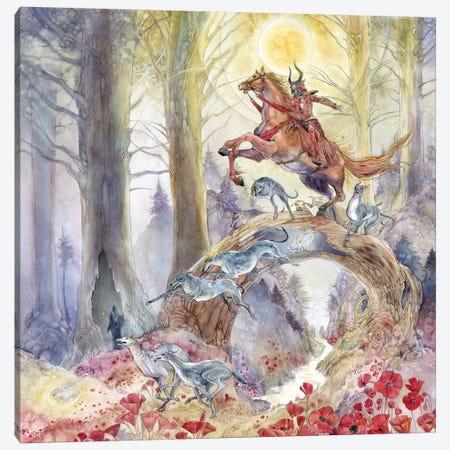 Red Knight Canvas Print #SLW128} by Stephanie Law Canvas Artwork