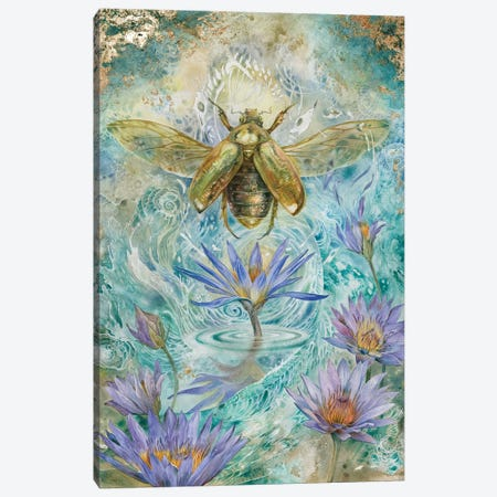 Scarab I Canvas Print #SLW133} by Stephanie Law Art Print