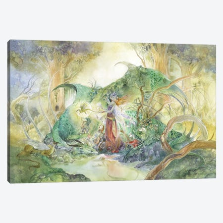 Ancient Canvas Print #SLW14} by Stephanie Law Canvas Art