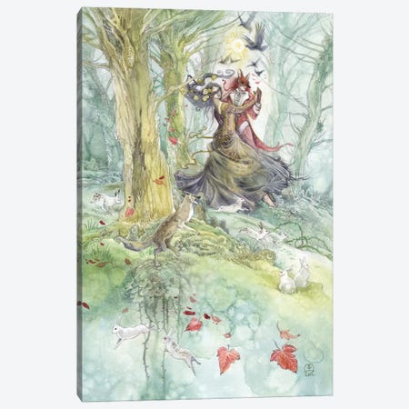 Trickster Canvas Print #SLW160} by Stephanie Law Canvas Artwork