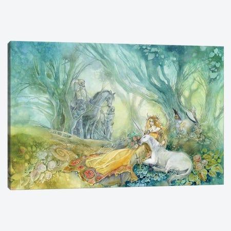 Unicorn Canvas Print #SLW164} by Stephanie Law Canvas Print
