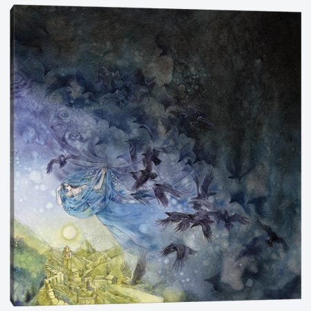 Veil Of Night Canvas Print #SLW167} by Stephanie Law Canvas Print
