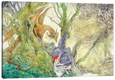 Whatcha Reading Canvas Art Print