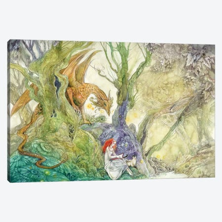 Whatcha Reading Canvas Print #SLW171} by Stephanie Law Canvas Art Print