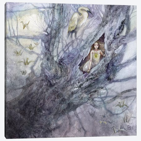 Where Wishes Go To Roost Canvas Print #SLW173} by Stephanie Law Canvas Print