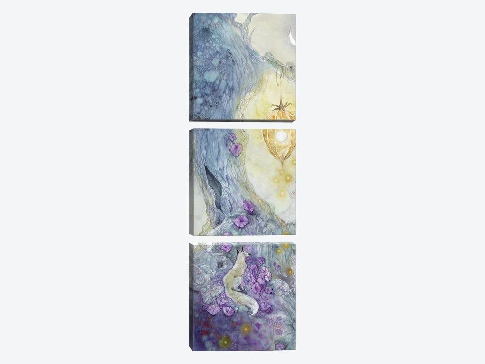 White Fox by Stephanie Law 3-piece Canvas Print