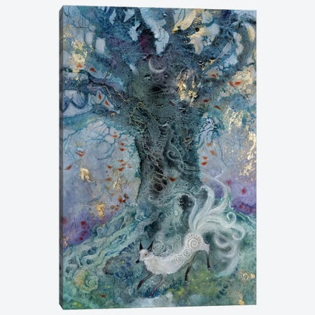 White Ninetail Canvas Print #SLW176} by Stephanie Law Canvas Wall Art
