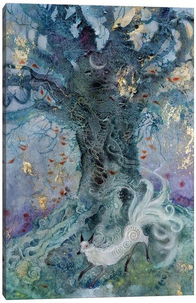 White Ninetail Canvas Art Print