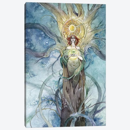 Wood Queen Canvas Print #SLW180} by Stephanie Law Canvas Wall Art