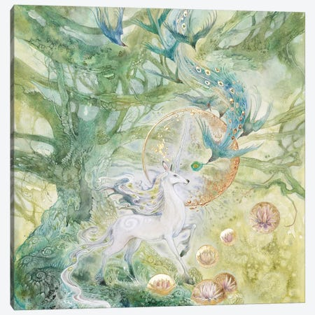 A Meeting Of Tangled Paths II Canvas Print #SLW187} by Stephanie Law Canvas Print