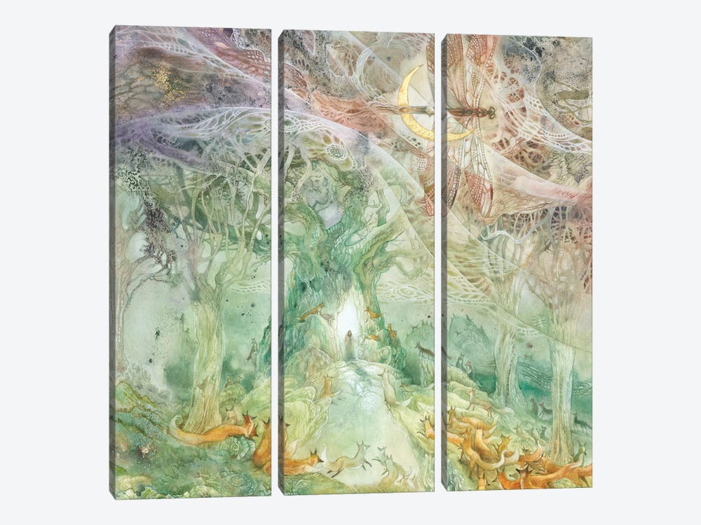 Convergence II by Stephanie Law 3-piece Canvas Print