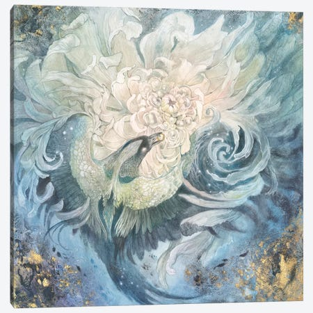 In The Gardens Of The Moon I Canvas Print #SLW205} by Stephanie Law Canvas Art