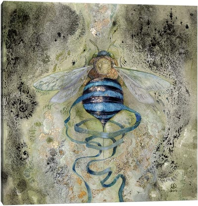 Blue Bee Canvas Art Print