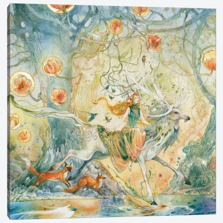 Moving Through The Spaces Between Canvas Print #SLW217} by Stephanie Law Art Print
