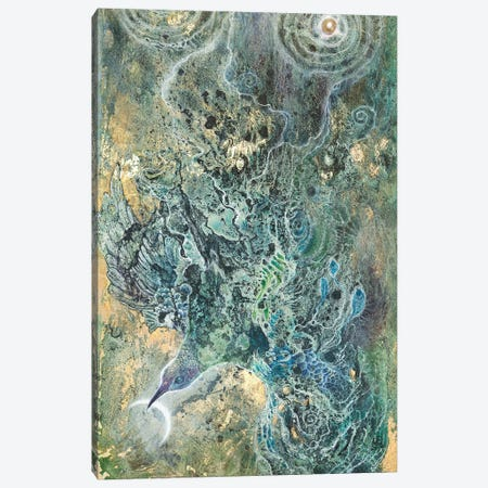 Moon Slivers I Canvas Print #SLW218} by Stephanie Law Canvas Art