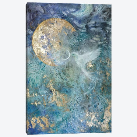 Slivers Of The Moon I Canvas Print #SLW238} by Stephanie Law Canvas Wall Art