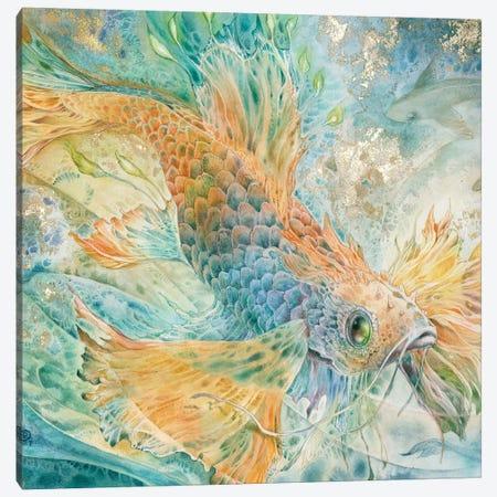 The Blue Below I Canvas Print #SLW245} by Stephanie Law Canvas Artwork