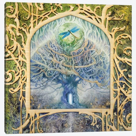 Verdant Peek II Canvas Print #SLW251} by Stephanie Law Canvas Wall Art