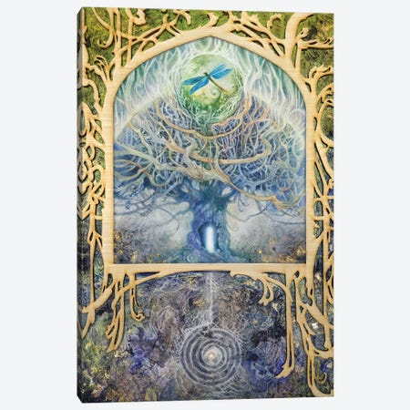 Verdant Peek I Canvas Print #SLW252} by Stephanie Law Canvas Art
