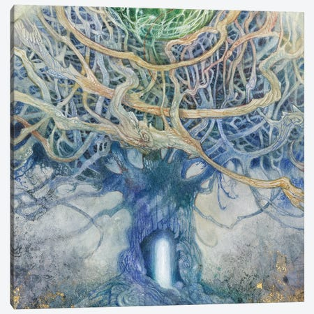 Verdant Peek III Canvas Print #SLW253} by Stephanie Law Canvas Artwork