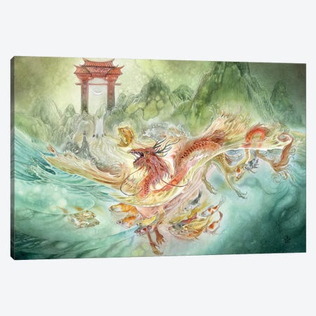 Carp Canvas Print #SLW25} by Stephanie Law Art Print