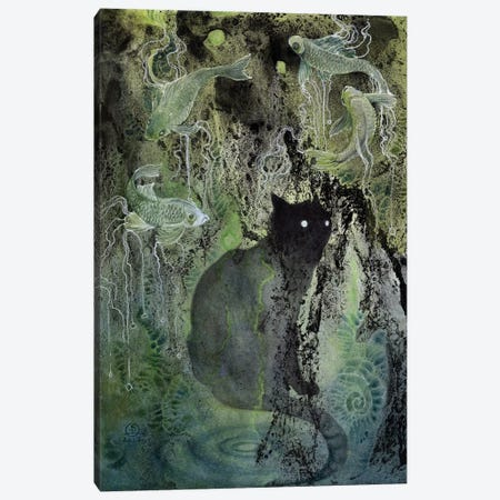 Cat Canvas Print #SLW26} by Stephanie Law Canvas Print