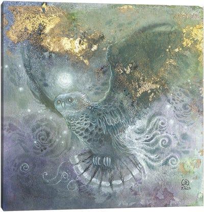 Shadowy Wings Canvas Art Print