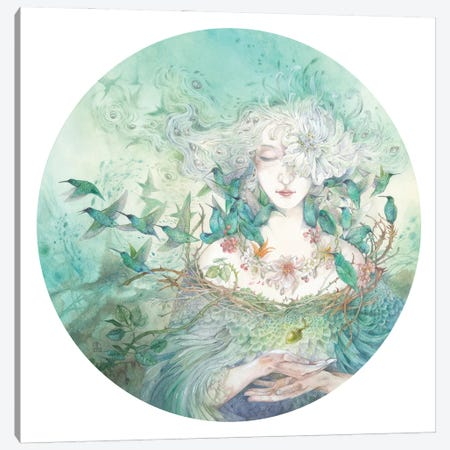 Keeper Of The Garden Canvas Print #SLW275} by Stephanie Law Canvas Print