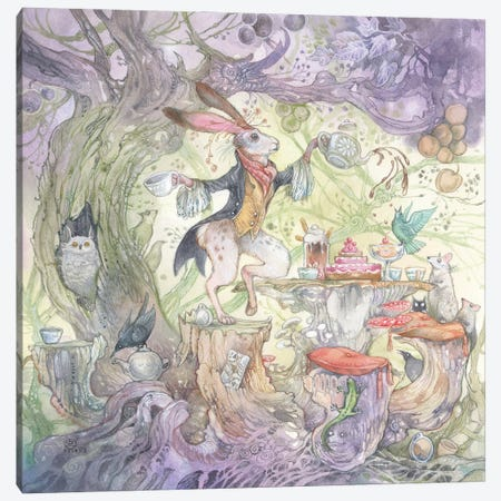 March Hare Canvas Print #SLW276} by Stephanie Law Art Print