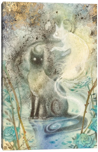 Shadow Companion Canvas Art Print