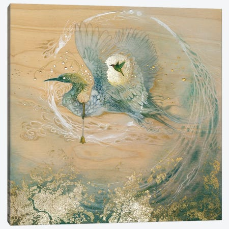 Crane Canvas Print #SLW32} by Stephanie Law Canvas Print