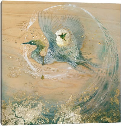Crane Canvas Art Print