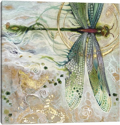 Damsel Fly II Canvas Art Print