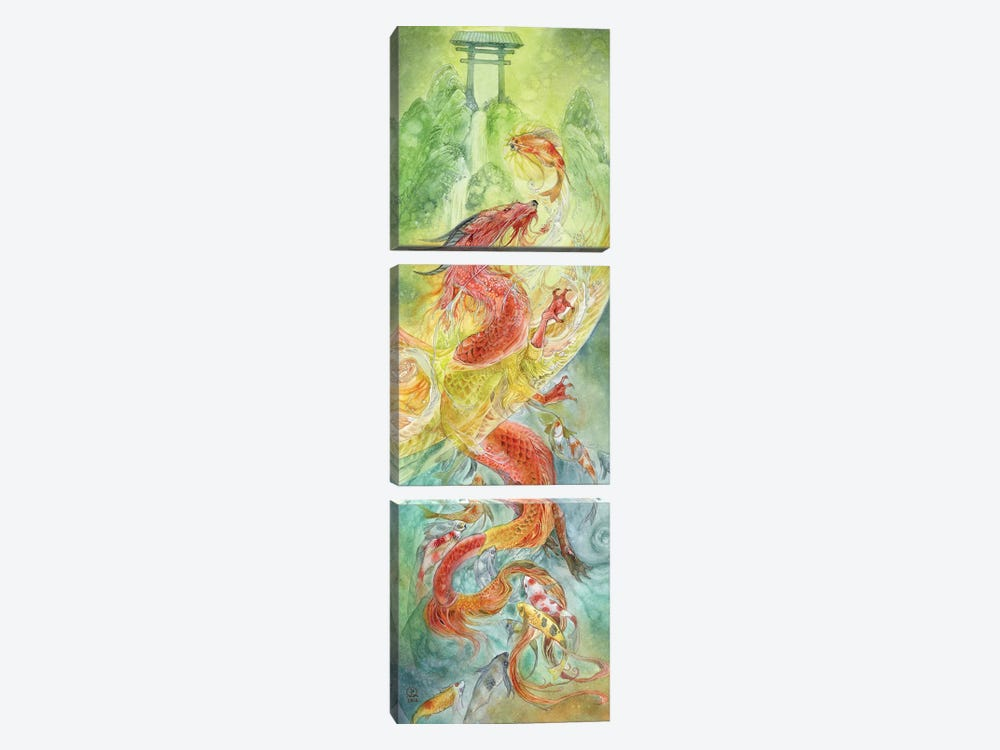 Dragongate by Stephanie Law 3-piece Canvas Wall Art