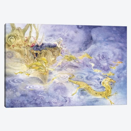 Dragons Canvas Print #SLW50} by Stephanie Law Canvas Art Print
