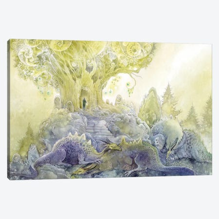 Dragons Dream Canvas Print #SLW51} by Stephanie Law Canvas Print